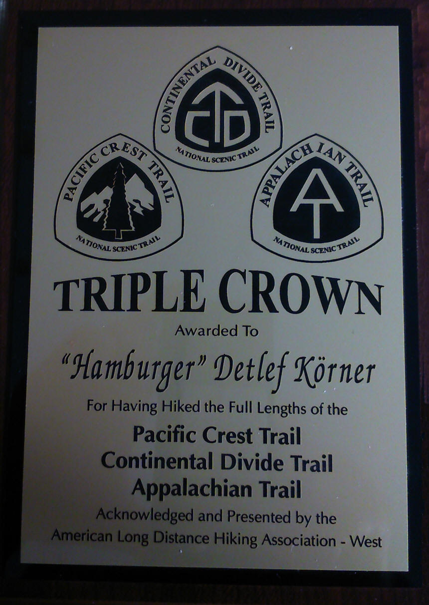 Triple Crown Plaque